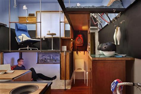 jetson green simple movable walls transform tiny apartment jetson green micro apartment transformed into a