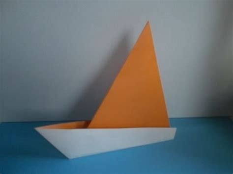 Sail Boat Origami - how to make an easy origami sail boat
