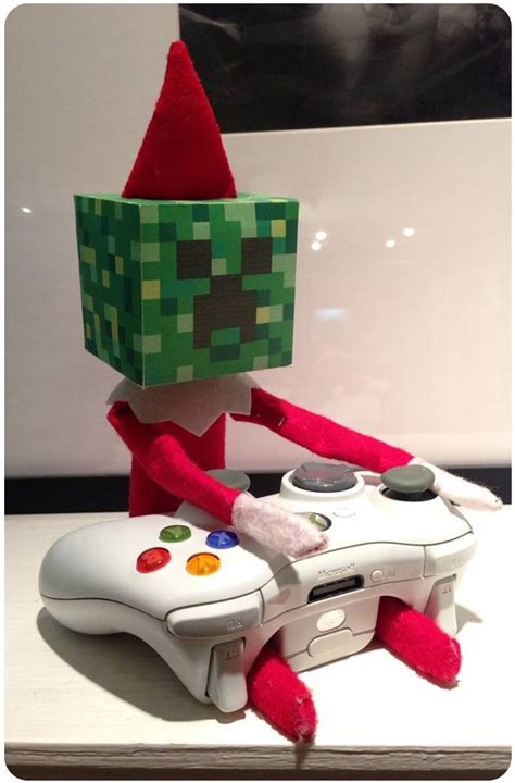 printable minecraft elf on the shelf head elf on the shelf ideas plus a printable for creating a