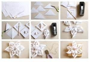 how to make a three dimensional snowflakes with paper
