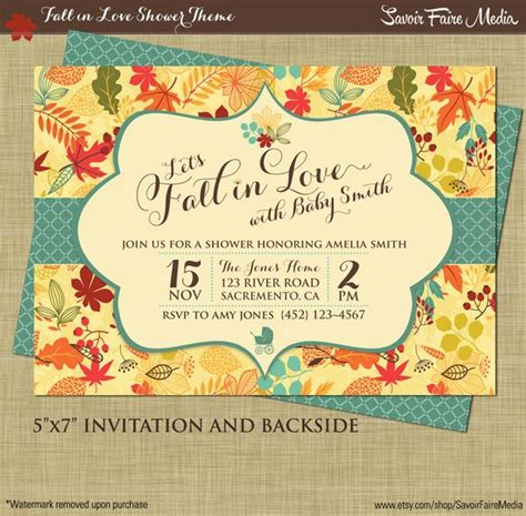Fall Themed Baby Shower Invitation Wording by Fall Baby Shower Invitation Autumn Shower Printables