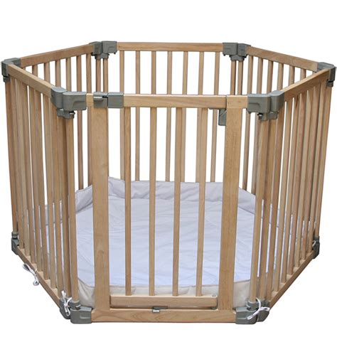 play pen clippasafe multifunction wood play pen with base mat ebay