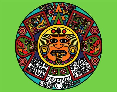 El Calendario Y Azteca Dibujo De Calendario Azteca Pintado Por En Dibujos Net El