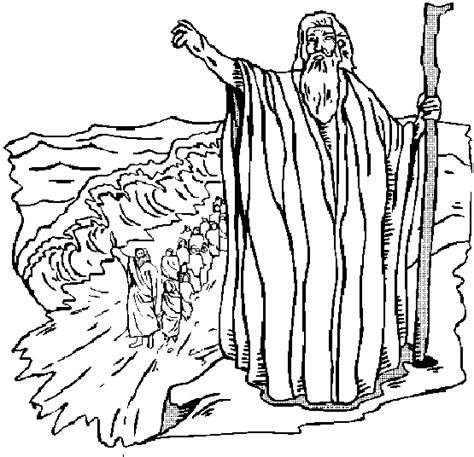 Israelites Crossing The Red Sea Coloring Page Coloring Home Parting Of The Sea Coloring Page