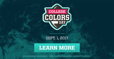 national college colors day national college color day 2018 my