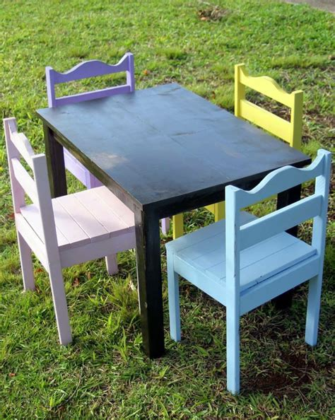 Personalized Childrens Table And Chairs by Pastel Table And Chairs Elon S