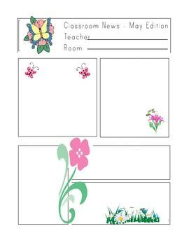 free monthly newsletter templates for teachers free newsletter templates for teachers monthly