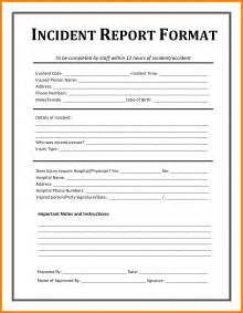 sample of accident report letter 10 free sample of incident report letter monthly budget free incident report sample doc pdf 4 page s