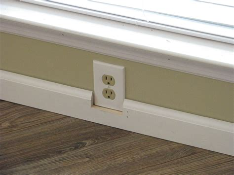 how should baseboards be how can i trim around an electrical outlet home improvement stack exchange