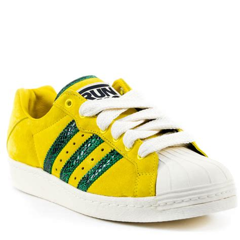 adidas run dmc shoes adidas run dmc ultrastar 80 s sneakers yellow green ltd