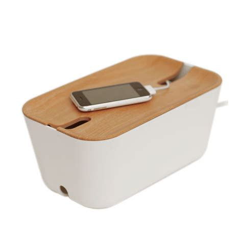 charging box hideaway charger and power strip box from bosign lapadd