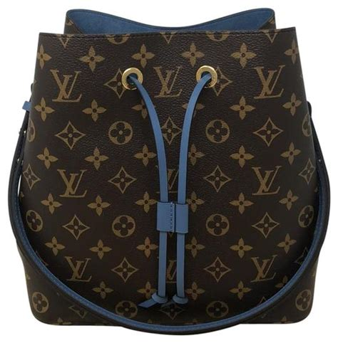 louis vuitton neonoe monogram blue jean coated canvas
