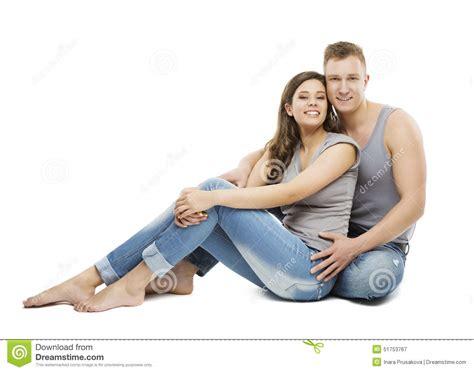 seduta sulla faccia giovane ritratto delle coppie ragazza felice e ragazzo in