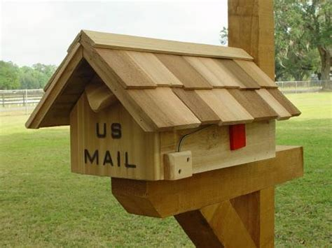 Handcrafted Mailboxes - image gallery handcrafted cedar wood mailboxes