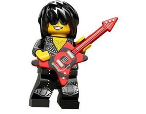 Lego Original Minifigure Rocker Rock Guitar Series lego minifigure series 12 rock n roll hair band guitar code included ebay