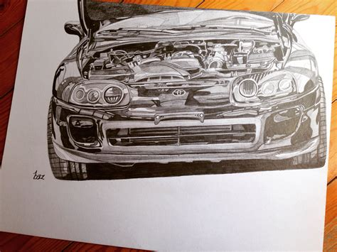 toyota supra drawing toyota supra drawing d