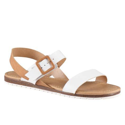 white sandals aldo roversano flat sandals in white lyst