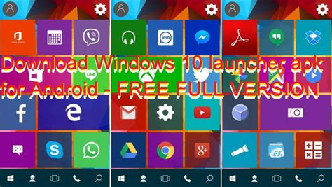 android version for mobile free windows 10 launcher apk for android free