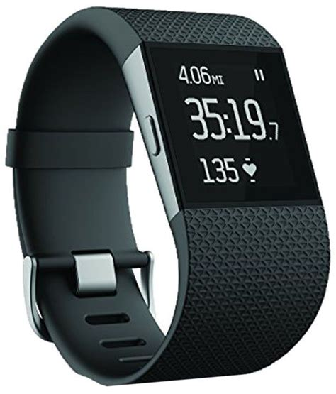 fit bit fitbit surge fitness black superwatch buy at best