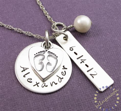 new mother charm necklace charm necklace handsted baby charm