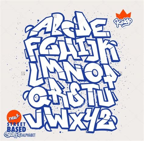 17 Graffiti Alphabets Jpg Psd Ai Illustrator Download