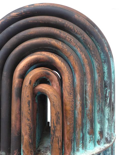 copper pipe art machine age copper pipe sculptures for sale at 1stdibs