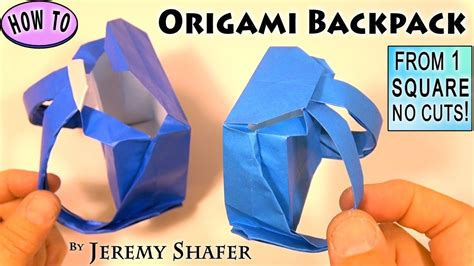 Origami School Bag - origami backpack
