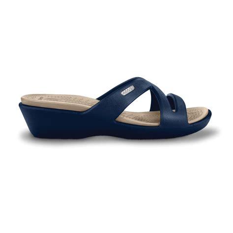 On Sale Crocs Mini Wedge 4cm crocs ii navy stucco mini wedge sandal made