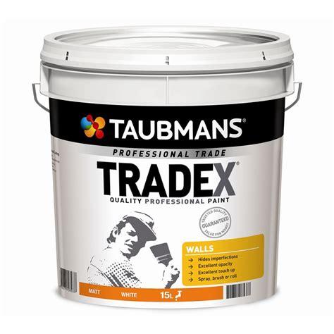 taubmans interior paint taubmans tradex 15l white matt interior wall paint