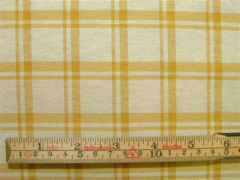 vintage tablecloth curtains prestigious textiles mustard check curtain vintage