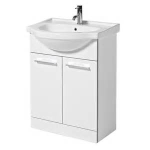 idahi bathrooms touch gloss white w650mm 2 door vanity