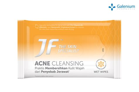 Jf Acne Protect Cleanser Bar jf acne cleansing wipes pt galenium pharmasi