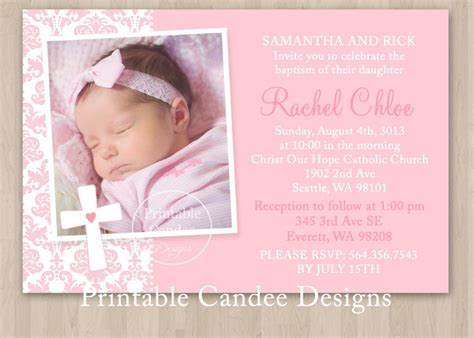 Baptism Invitation Baptism Invitation Template Baptism Vitations Baptism Vitations Christening Invite Template