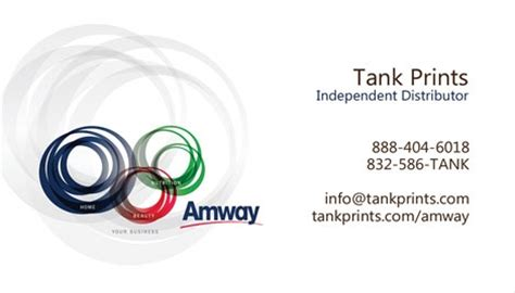 amway name card template amway business card design 2
