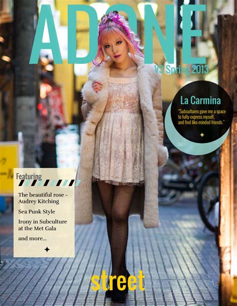 street style seventeen magazine cover of adone magazine japanese street style issue