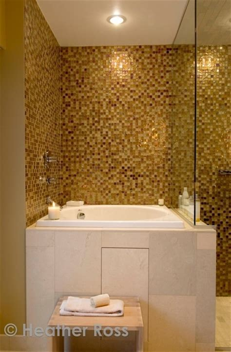 pitre bathrooms stunning gold tiled bathroom by celine pitre photo heather ross heather ross