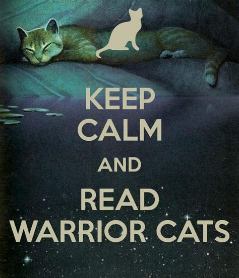 how to live like your cat books keep calm and read warrior cats poster snowstorm keep