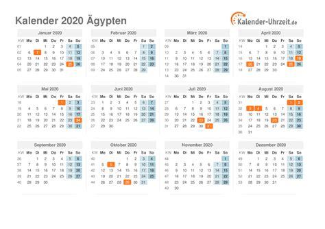 feiertage  aegypten kalender uebersicht