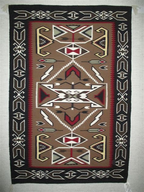teec nos pos rug by shirley medium size navajo weaving
