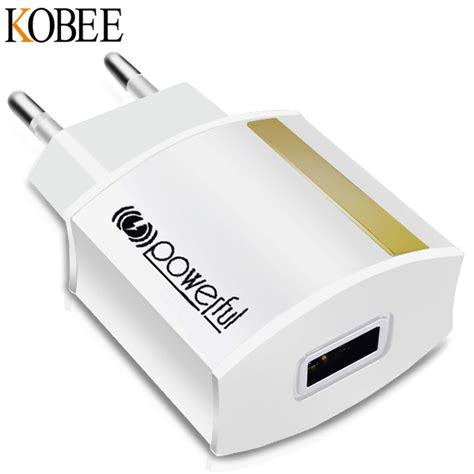 usb wall charger 2 1a kobee 5v 2 1a universal travel usb charger adapter wall