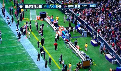 sports benches soccer look all 53 texans players came on the field to help an