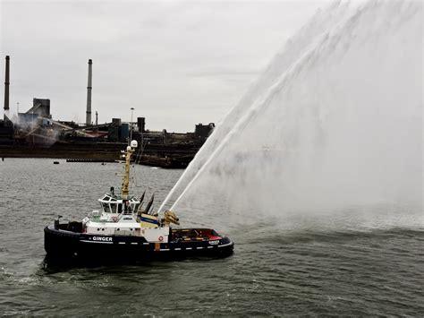 tug boat water salute free stock photo public domain - Tugboat Water Salute