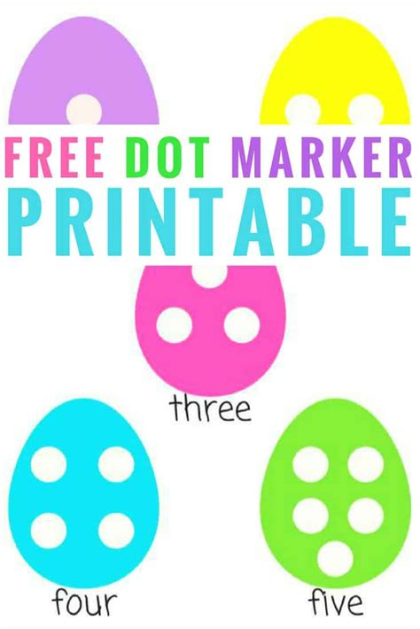 easter egg dot marker printable counting activity  preschoolers