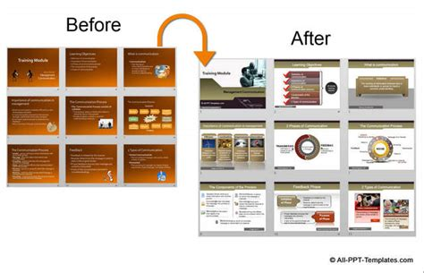 before and after template powerpoint presentation design makeover exle