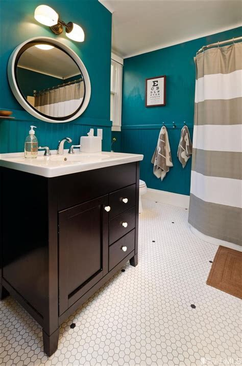 Corner Bath Shower Curtain luxurious teal
