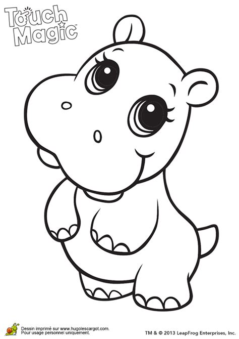 baby animals with big eyes coloring pages coloriage leapfrog hippopotame sur hugolescargot com