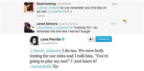 lana parrilla funny quotes 1k jared gilmore lana parrilla lanapluss they have so