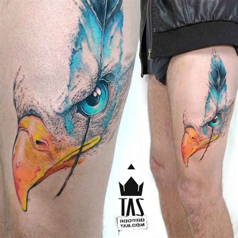 feather tattoo on upper thigh eagle eye tattoo best tattoo ideas gallery
