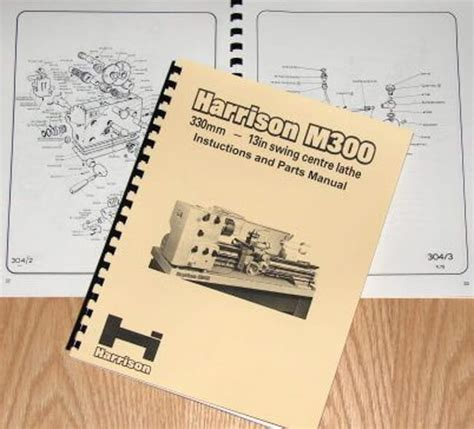 harrison  metal lathe operator  parts manual