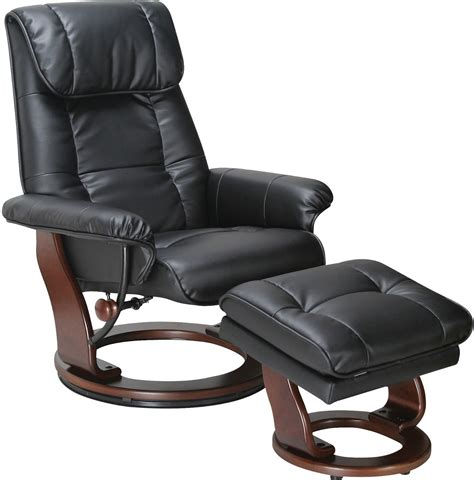 Recliner Chair by Dixon Black Reclining Chair Ottoman The Brick